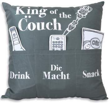 Kissen mit Spruch 43x 43cm - King of the Couch